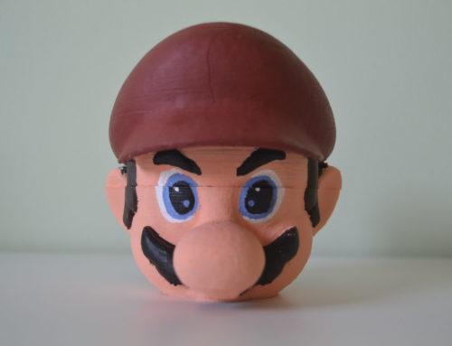 Posavasos Mario imprimido en 3D