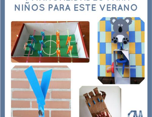 4 manualidades para niños para hacer en familia este Verano.