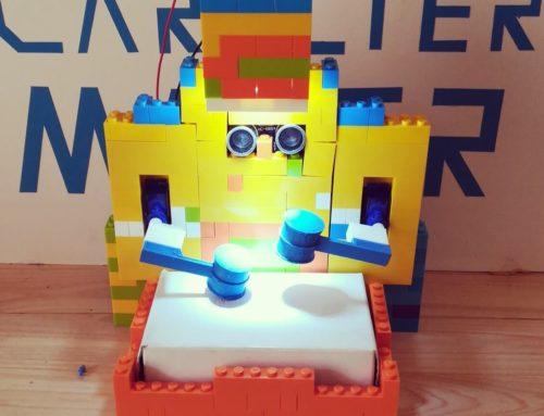 Punchy el tamborilero, otro robot lego para niños.