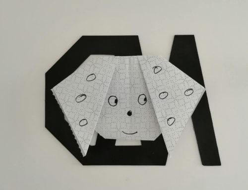 ORIGAMI: Como hacer un  perrito de papel.
