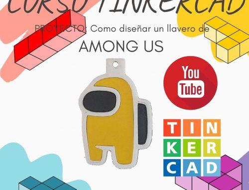 Cómo Diseñar en TINKERCAD UN LLAVERO DE AMONG US