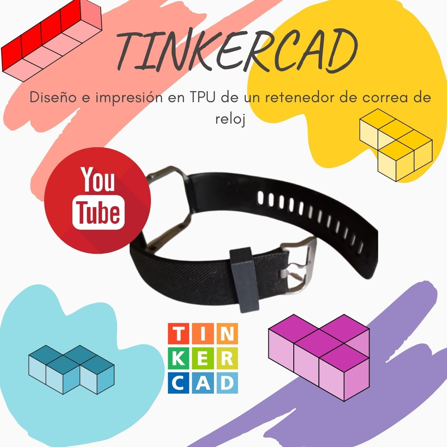 Diseño Tinkercad retenedor correa reloj