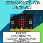 Actividad para Primaria: Micro:Bit + código binario (II). Programación