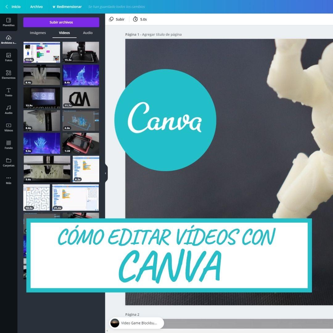 Cómo editar vídeos en CANVA