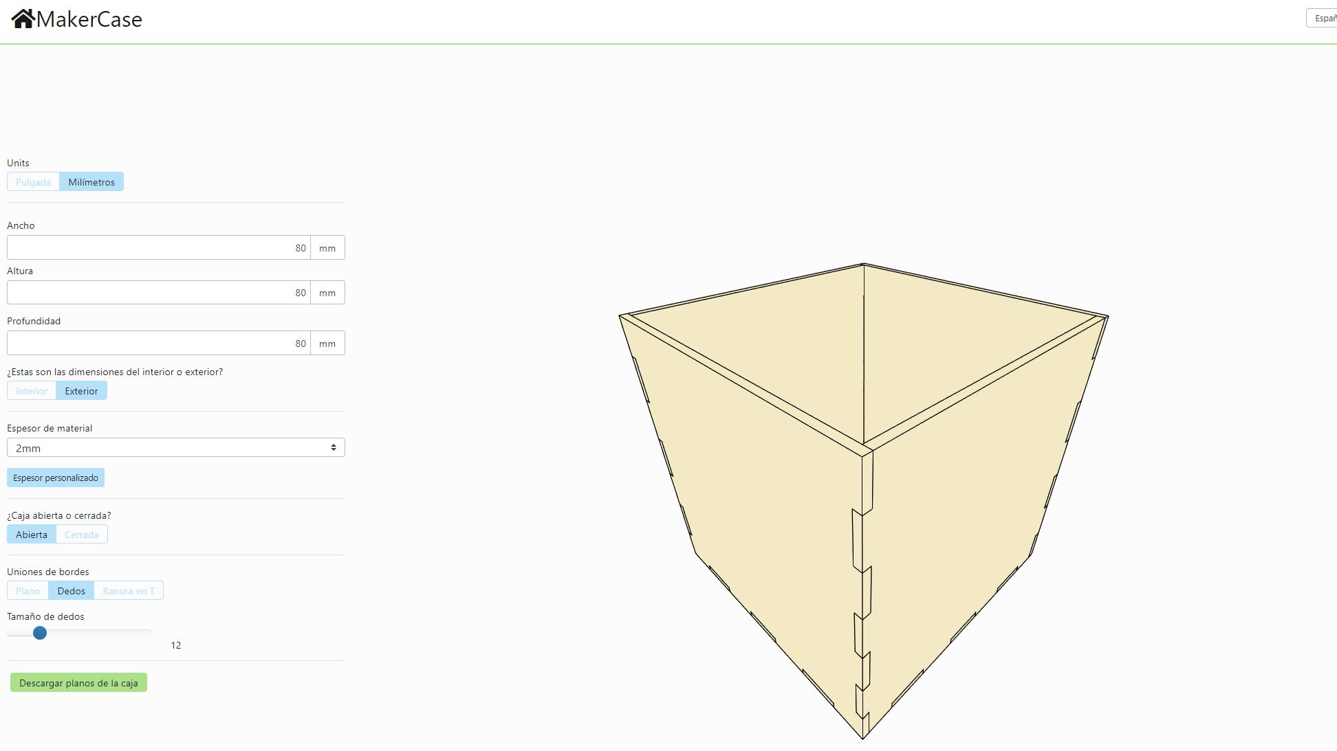 diseñar caja cartón personalizada